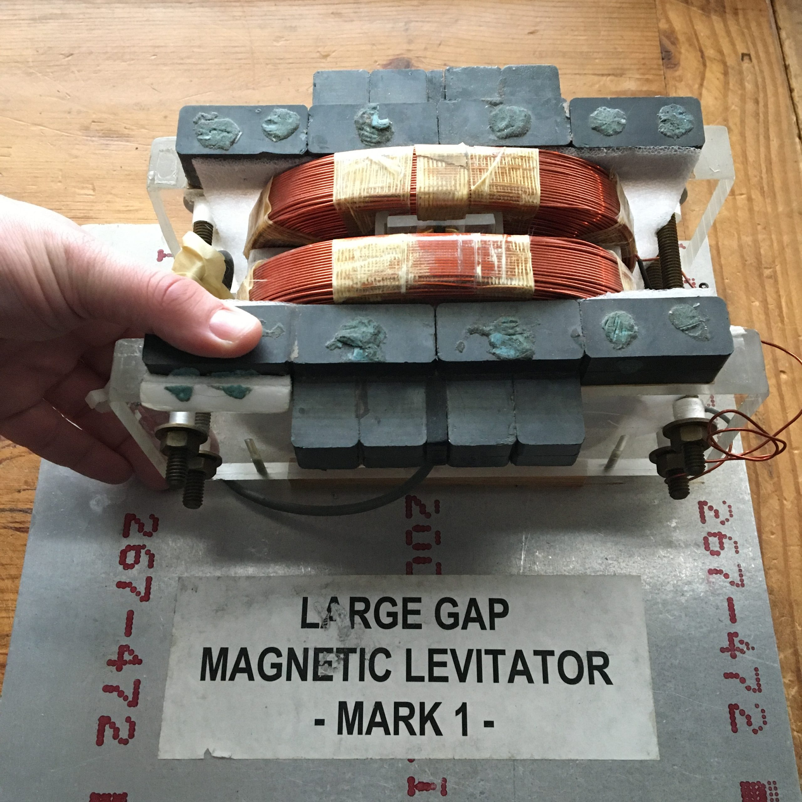 The first from-below levitator prototype